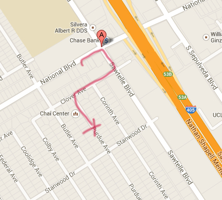 Drive route and where they ditched the stolen getaway car.