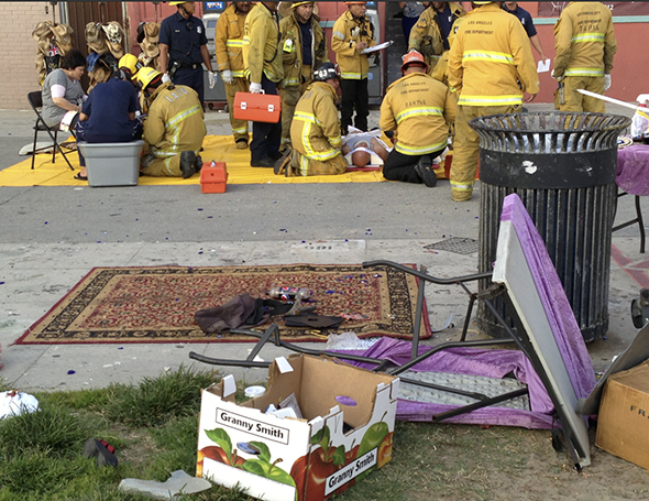 Maybe the VNC could recommend to LAFD that they have local artists paint their triage blankets to make it a more friendly and local experience.