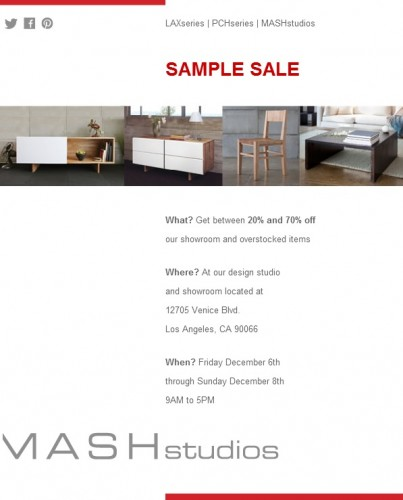 Sample Sale 2013 December